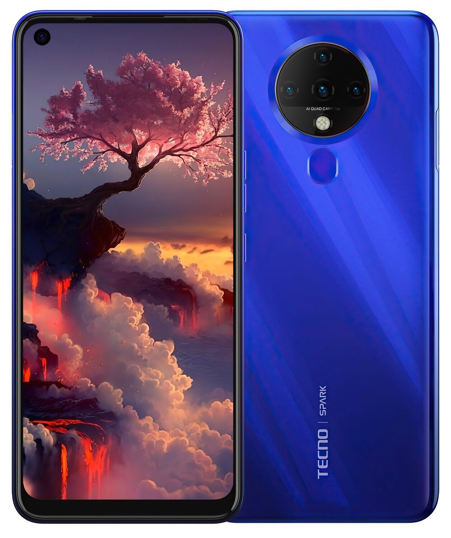 Смартфон TECNO Spark 6 (KE7) 4/128Gb DS Ocean Blue фото 1