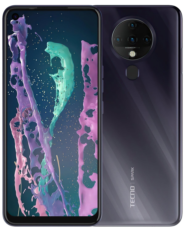 Смартфон TECNO Spark 6 (KE7) 4/128Gb DS Comet Black фото