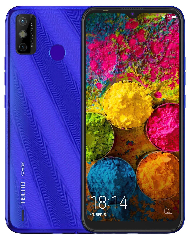 Смартфон TECNO Spark 6 Go 3/64Gb (KE5j) DS Aqua Blue фото