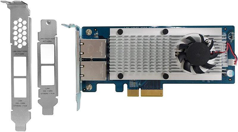 Мережева карта QNAP Dual-port 10Gbase-T Network Card (LAN-10G2T-X550) фото