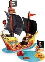 Игровой набор Janod Корабль пиратов 3D J08579