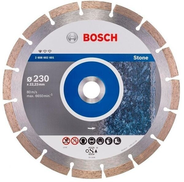 bosch Отрезной диск Bosch Standard for Stone 230-22.23 2608602601