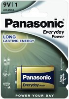 Батарейка Panasonic EVERYDAY POWER 6LR61 (6LF22, MN1604, MX1604) 1 шт. (6LR61REE/1B)