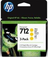 Картридж HP No.712 DesignJet Т230/Т630 Yellow 3-Pack 29-ml (3ED79A)