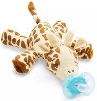 Пустышка Avent Ultra-Air, 0-6 мес, 1 шт + игрушка жираф (SCF348/11)