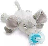 Пустышка Avent Ultra-Air, 0-6 мес, 1 шт + игрушка слоник (SCF348/13)