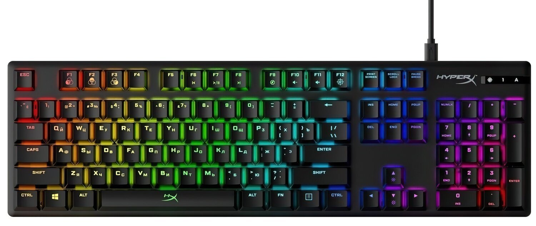Игровая клавиатура HyperX Alloy Origins USB Blue (HX-KB6BLX-RU) фото