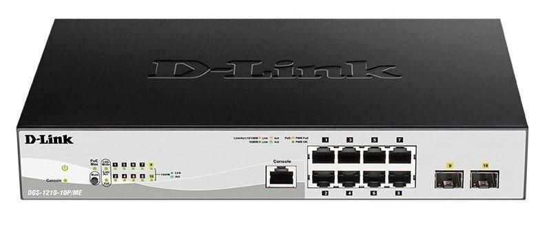 Коммутатор D-Link DGS-1210-10P/ME/B фото