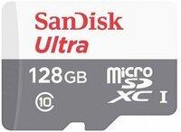 Карта памяти SanDisk 128GB microSDHC C10 UHS-I R100MB/s Ultra + SD (SDSQUNR-128G-GN3MA)
