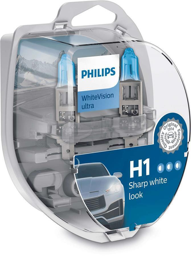 Лампа галогенная Philips H1 WhiteVision Ultra фото 1