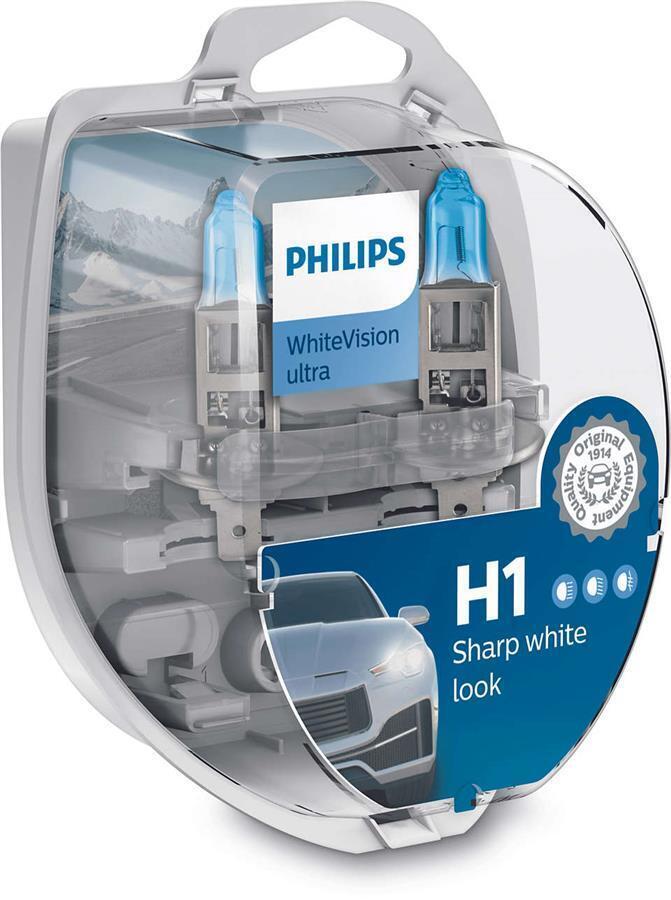 Лампа галогенная Philips H1 WhiteVision Ultra фото