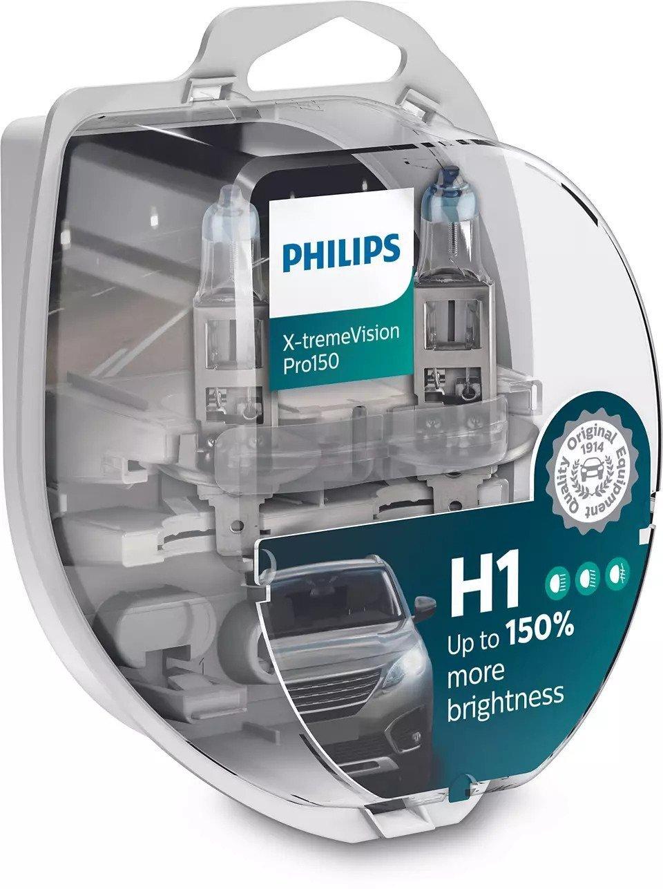 Лампа галогенная Philips H1 X-treme VISION PRO фото