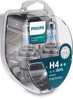 Лампа галогенная Philips H4 X-treme VISION PRO, 3700K, 2шт