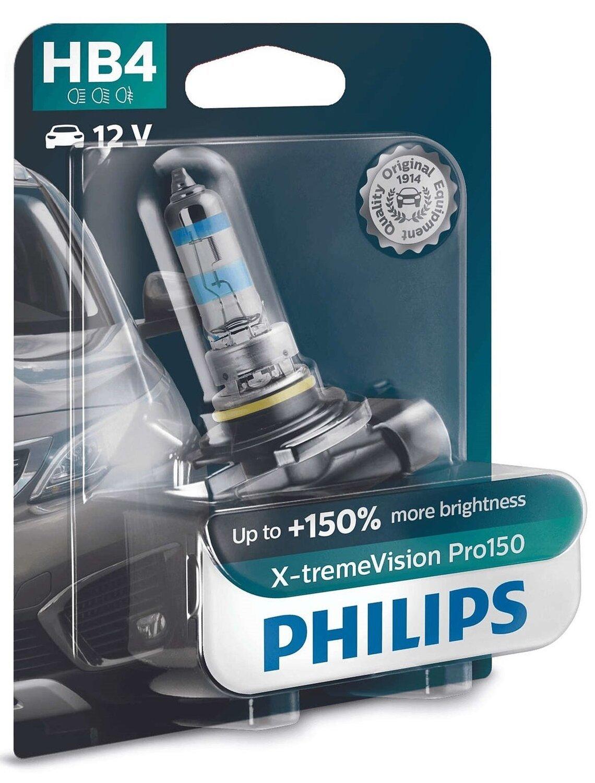 Лампа галогенная Philips HB4 X-treme VISION PRO фото 1