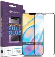 Защитное стекло MakeFuture для Apple iPhone 12 Full Cover Full Glue (MGF-AI12)