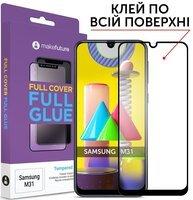 Защитное стекло MakeFuture для Galaxy M31 Full Cover Full Glue (MGF-SM31)