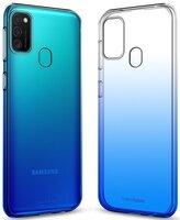 Чехол-накладка MakeFuture для Galaxy M21 Gradient Clear TPU Blue (MCG-SM21BL)