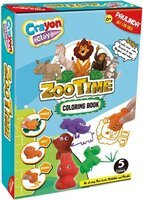 Набор для творчества Paulinda Crayon clay 2 в 1 (масса для лепки и карандаши) «Зоопарк» с раскраской PL-194002