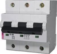 Автоматический выключатель ETI ETIMAT 10 3p B 80А (20kA)