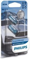 Лампа накаливания Philips W5W WhiteVision Ultra 2шт/блистер (12961WVUB2)