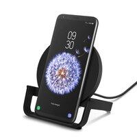 Беспроводное зарядное устройство Belkin Stand Wireless Charging Qi 10W Black (WIB001VFBK)
