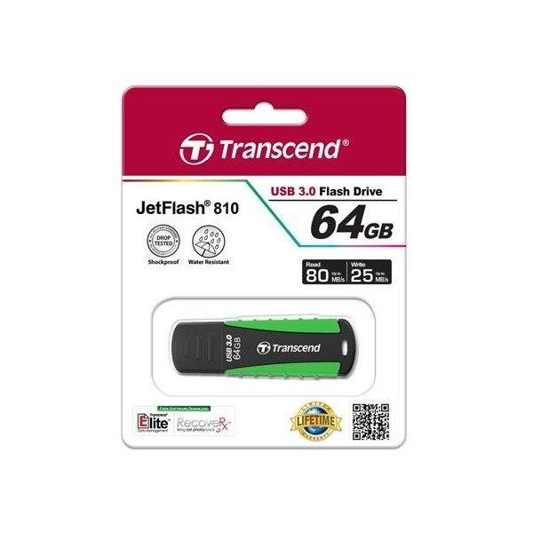 Купить Накопитель USB 3.0 TRANSCEND JetFlash 810 64GB Rugged (TS64GJF810)