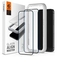 Захисне скло Spigen для iPhone 12/12 Pro tR ALM FC Black (2Pack)