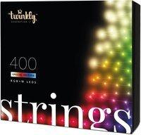 Smart LED Гирлянда Twinkly Strings RGBW 400, BT + WiFi, Gen II, IP44, кабель черный (TWS400SPP-BEU_bundle)