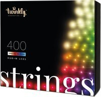 Smart LED Гірлянда Twinkly Strings RGBW 400, BT + WiFi, Gen II, IP44, кабель чорний (TWS400SPP-BEU_bundle)