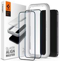 Защитное стекло Spigen для iPhone 12 mini Glas tR ALM FC Black (2Pack)