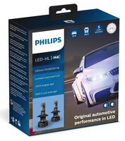 Лампа светодиодная Philips H4 Ultinon Pro9000 + 250%, 2 шт / комплект