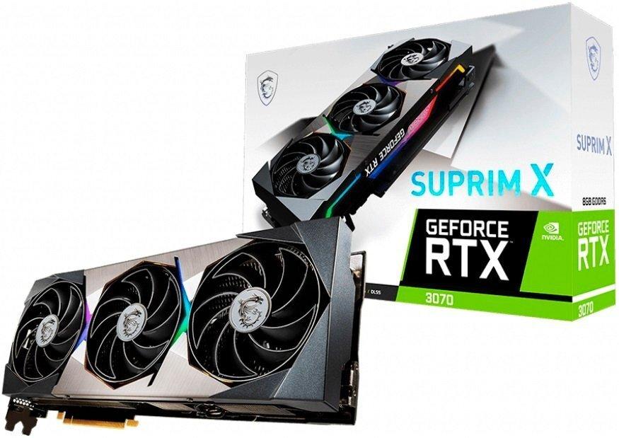 Вiдеокарта MSI GeForce RTX3070 8GB GDDR6 SUPRIM X (RTX_3070_SUPRIM_X_8G)фото1