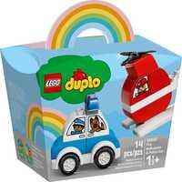 Конструктор LEGO DUPLO Пожарный вертолет и полицейская машина 10957