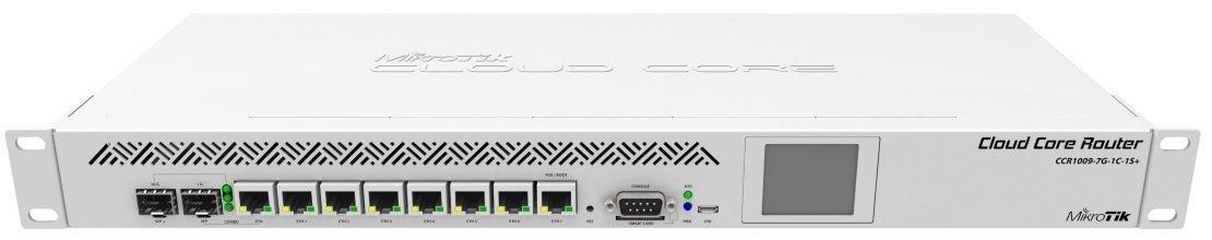 Маршрутизатор MikroTik Cloud Core Router 1009-7G-1C-1S + 7xGE, 1xGE/SFP, 1xSFP +, OS L6, LCD, rack (CCR1009-7G-1C-1S +) фото1