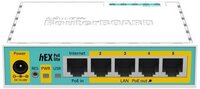 Маршрутизатор MikroTik hEX PoE lite 5xFE/PoE, 1xUSB, RouterOS L4 (RB750UPr2) (RB750UPR2)