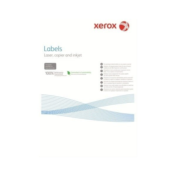 Наклейка Xerox Mono Laser 16UP (squared) 105x37mm 100л. (003R97407) фото