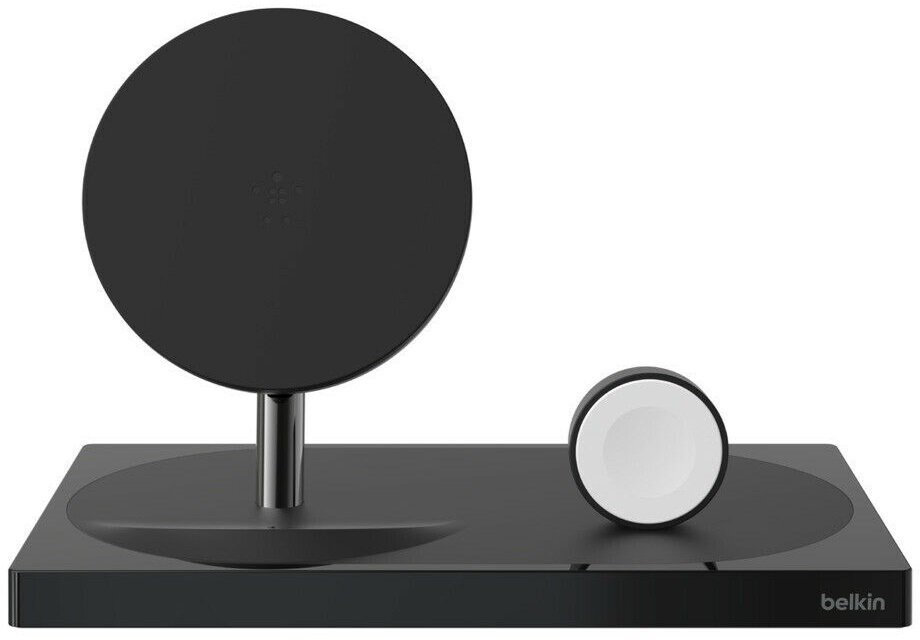Бездротове ЗУ Belkin 2-in-1 Wireless Pad/Stand/Apple Watch Black (F8J234VFBLK-APL)фото