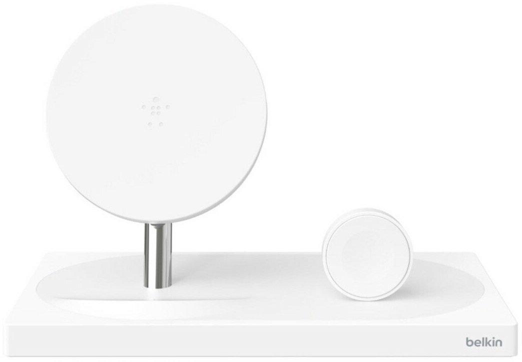 Бездротове ЗУ Belkin 2-in-1 Wireless Pad/Stand/Apple Watch White (F8J234VFWHT-APL)фото