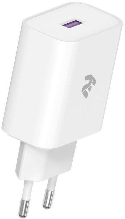 Мережевий зарядний пристрій 2 Е USB Wall Charger QC3.0 DC5V/3A Whiteфото
