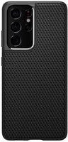 Чехол Spigen для Galaxy S21 Ultra Liquid Air Matte Black (ACS02350)