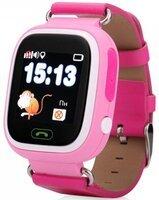 Детский телефон-часы с GPS трекером GOGPS К04 розовый