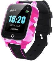 Смарт-часы GOGPS T01 с трекером и термометром Pink