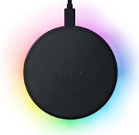 Бездротове зарядний пристрій Razer Chroma RGB Charging Pad 10W Black (RC21-01600100-R371)