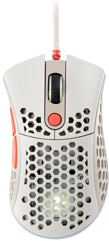Ігрова миша 2E GAMING HyperSpeed Pro RGB Retro white (2E-MGHSPR-WT)фото