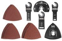Набор насадок и шлифбумаги для реноватора KWB, 17 шт (708950)