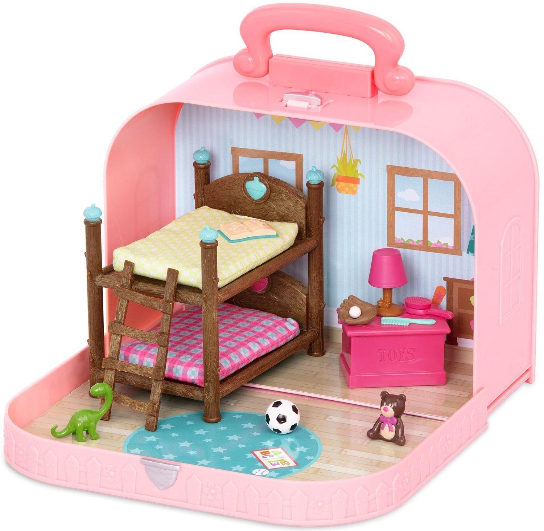 Игровой набор Li'l Woodzeez Кейс розовый (Двухъярусная кровать) с аксессуарами WZ6597Z фото