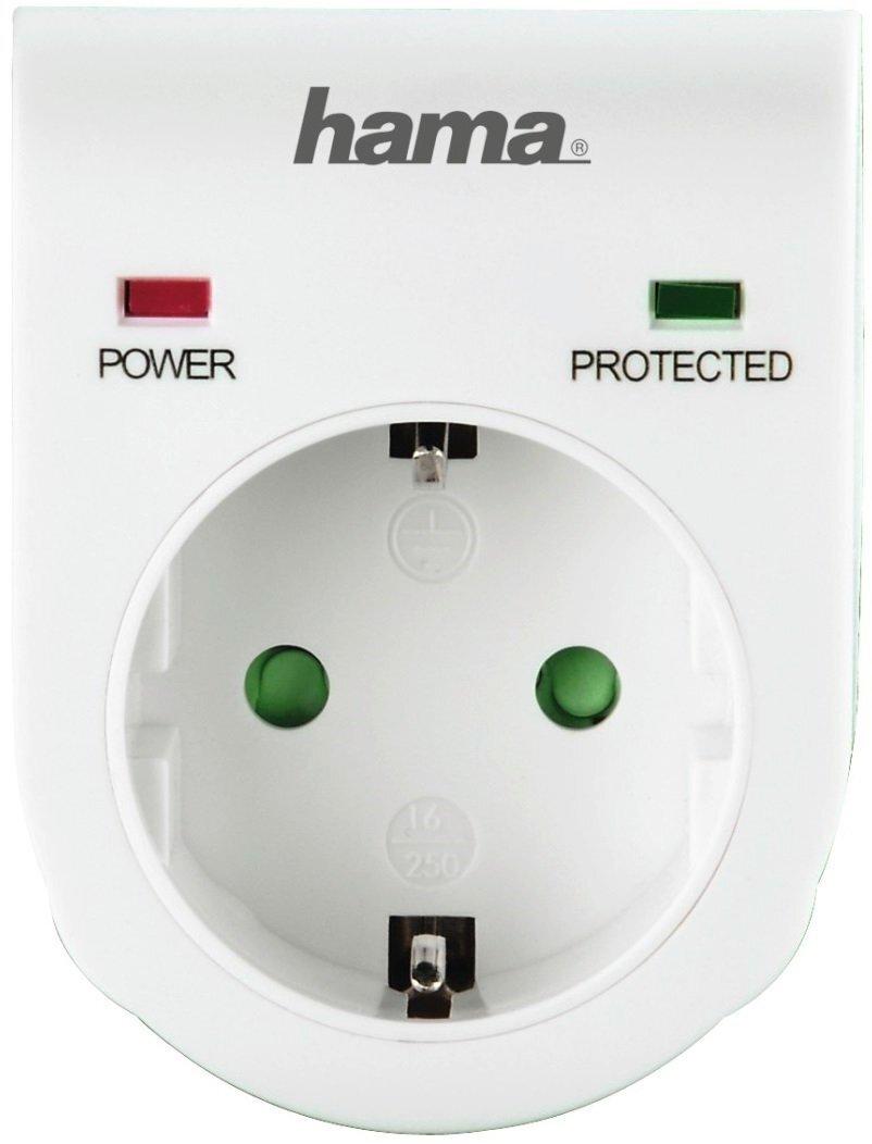 Сетевой адаптер НАМА 00047771 с функцией защиты от скачков напряжения, белый фото