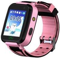 Детские телефон-часы с GPS трекером GOGPS К07 розовый