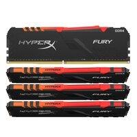 Пам'ять до ПК Kingston DDR4 3600 64GB KIT (16GBx4) HyperX Fury Black