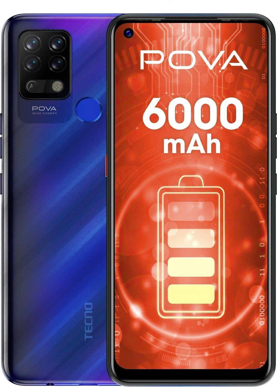 Смартфон TECNO Pova (LD7) 6/128Gb DS Magic Blue фото